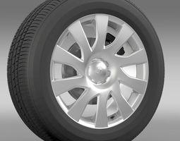 Vauxhall Vivaro Van wheel 2015 3D Model