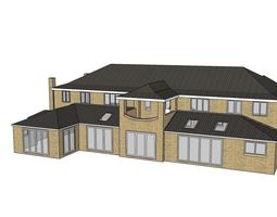 English style detached house 3D model