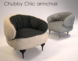 Chubby Chic armchair 3D