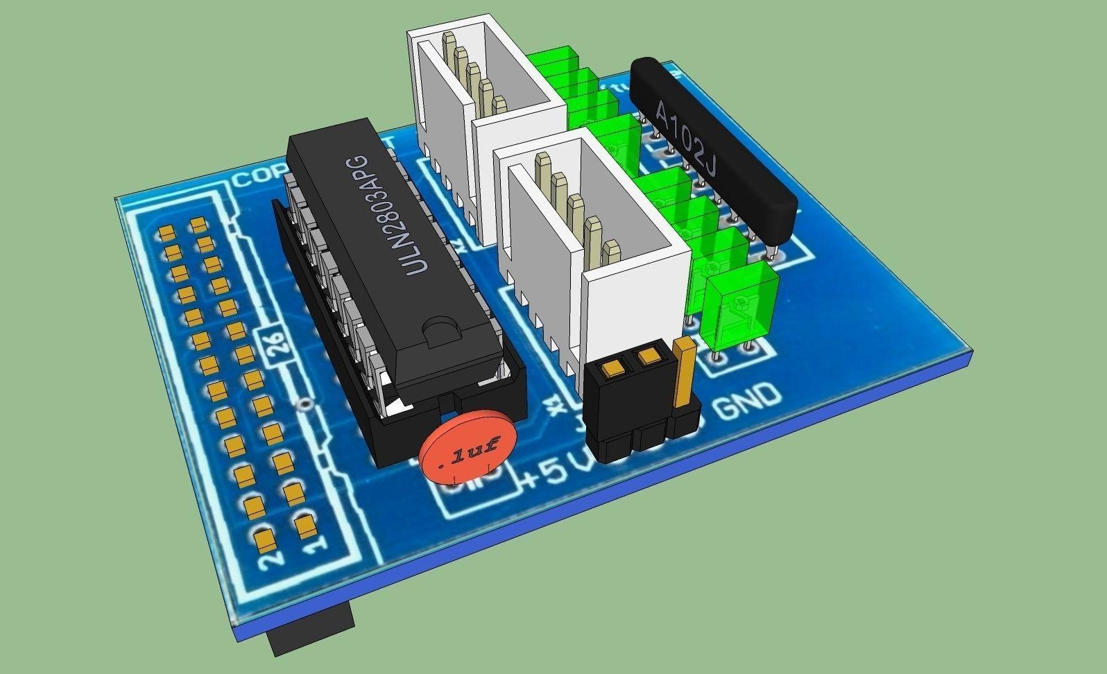 Stepper Motor Control Board Free 3d Model Skp