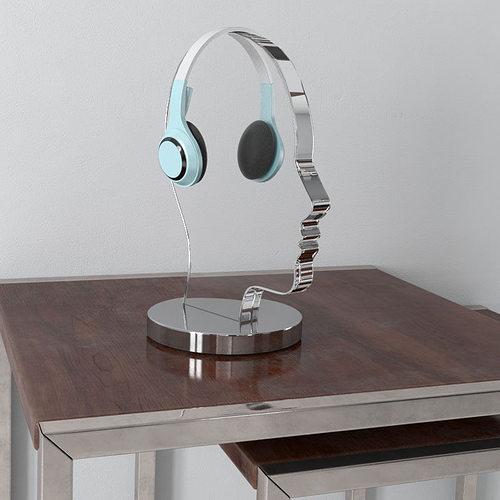 headphones 35 am156 3d model max obj mtl fbx c4d 1