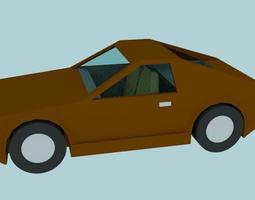 3d lowpoly sportcar