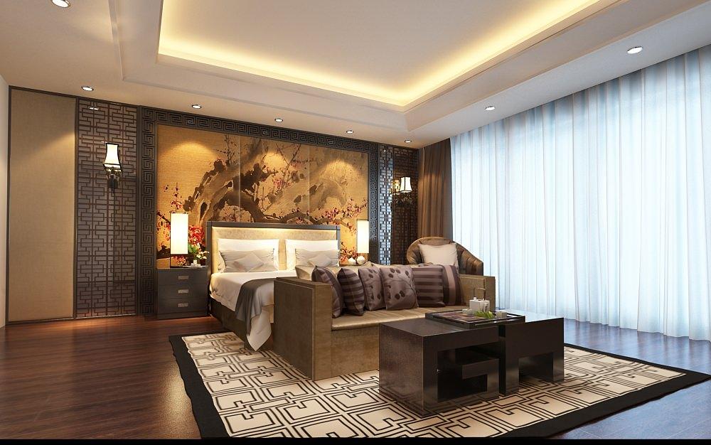 Model Bedroom bedroom asian decor 3d | cgtrader