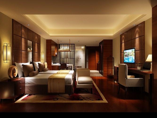 Very luxury bedroom 3d model max cgtrader com - Bedroom Or Hotel Room Photoreal 3d Model Max Cgtrader Com