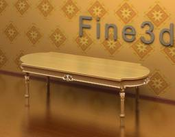Antique Dining Table 08-003 3D Model