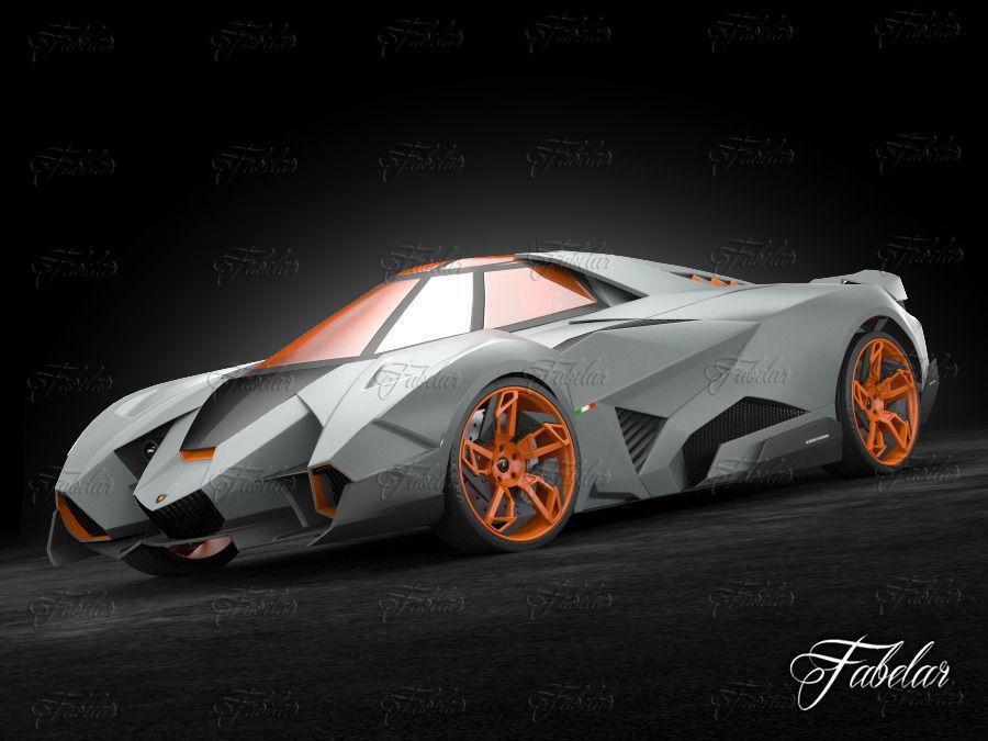 Lamborghini Egoista 3d Model Rigged Max Cgtrader Com