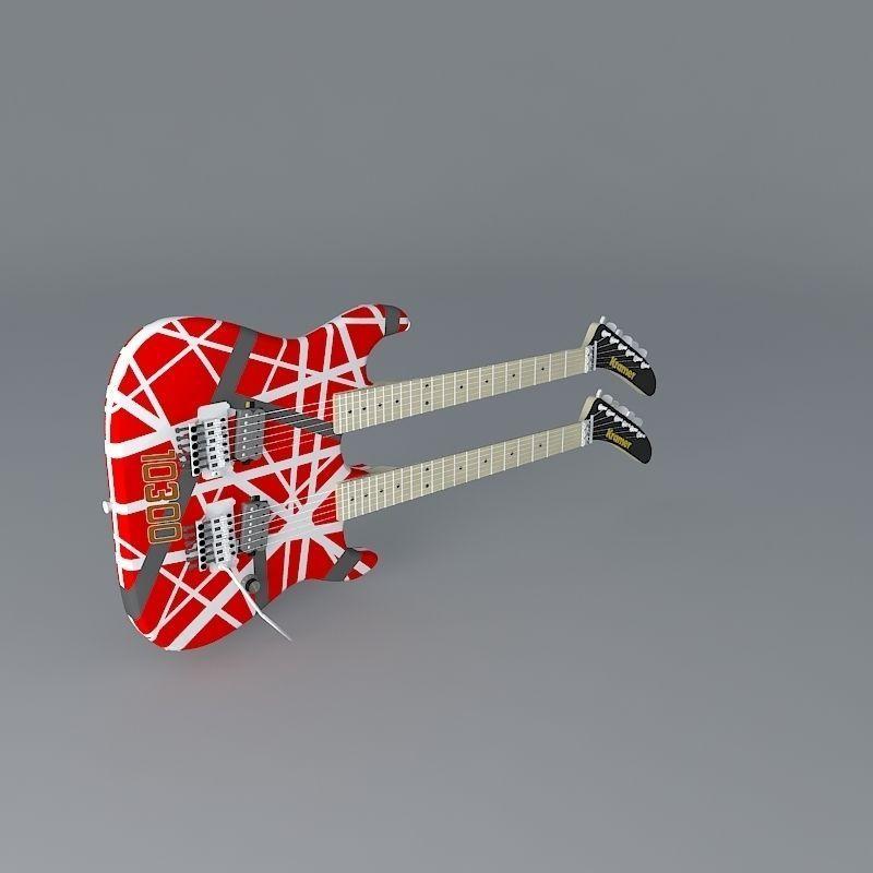 dfa48e4eb2a kramer eddie van halen double neck guitar 3d model max obj mtl 3ds fbx stl  dae ...