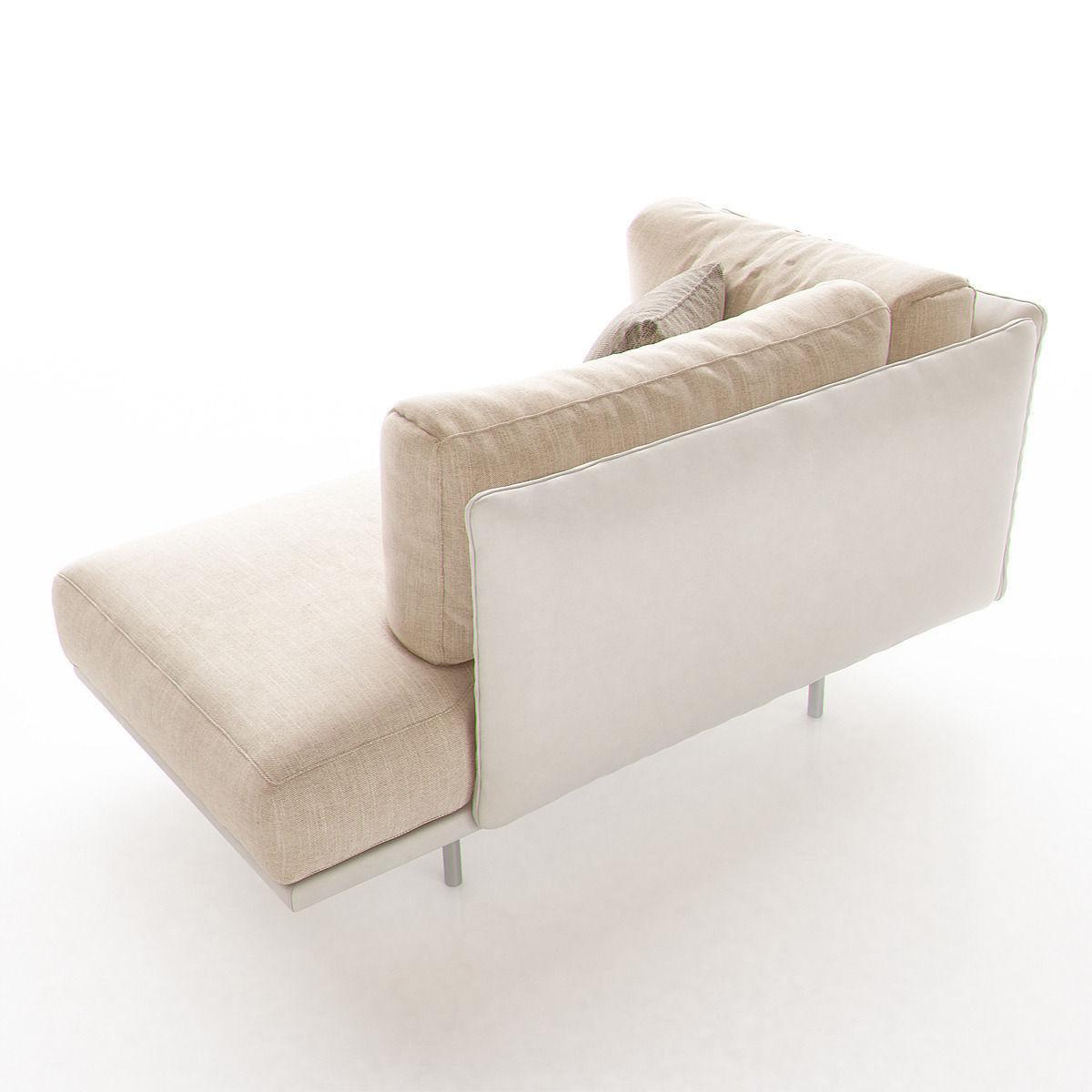 Lederman chaise lounge by arik ben simhon 3d model max obj for Chaise modele