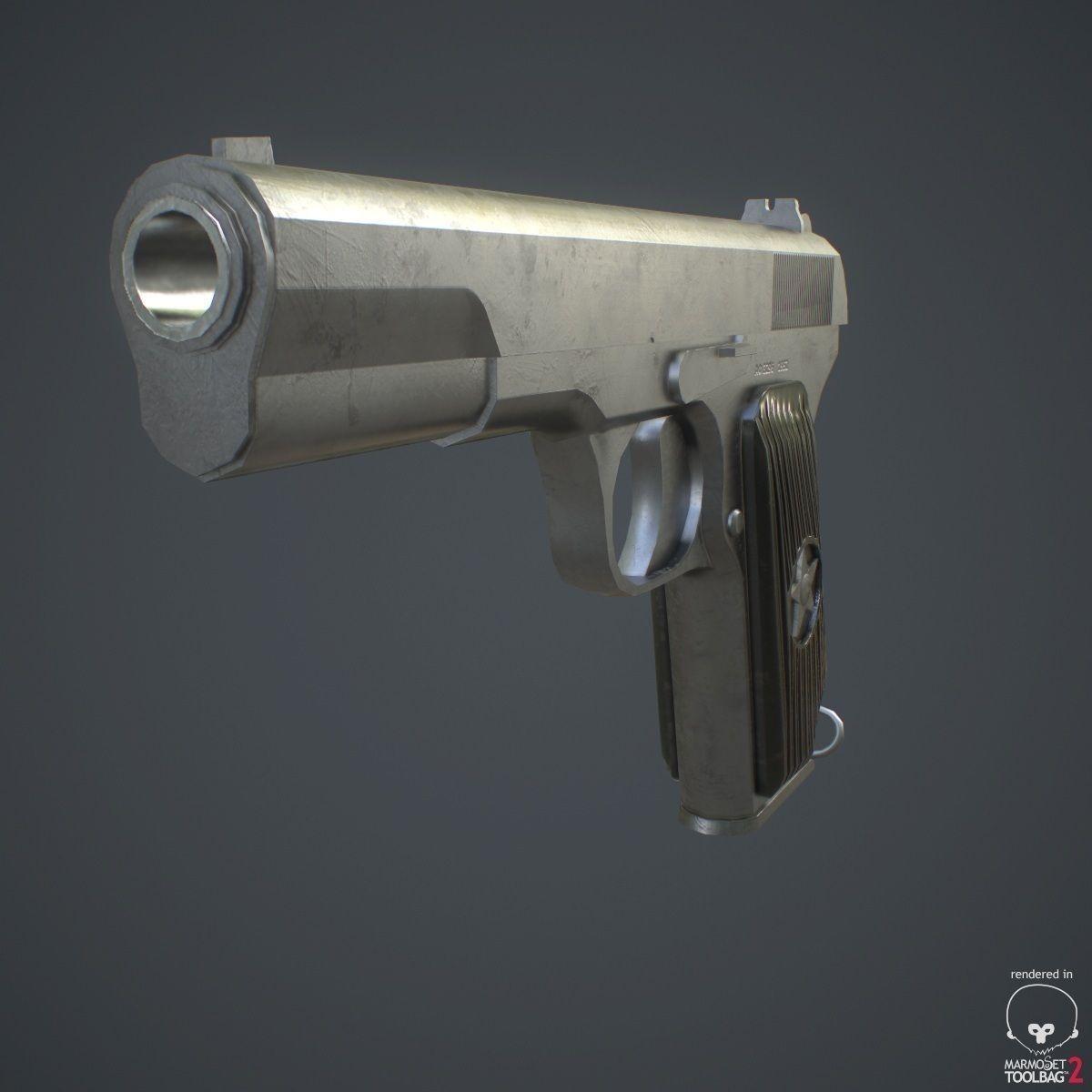 Tokarev Pistol Tt 3d Model