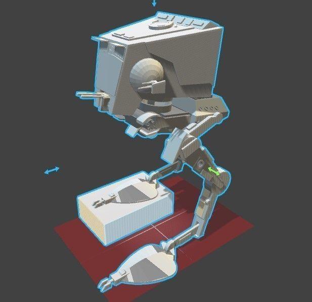 Star Wars AT-ST 3D Model 3D Printable .stl