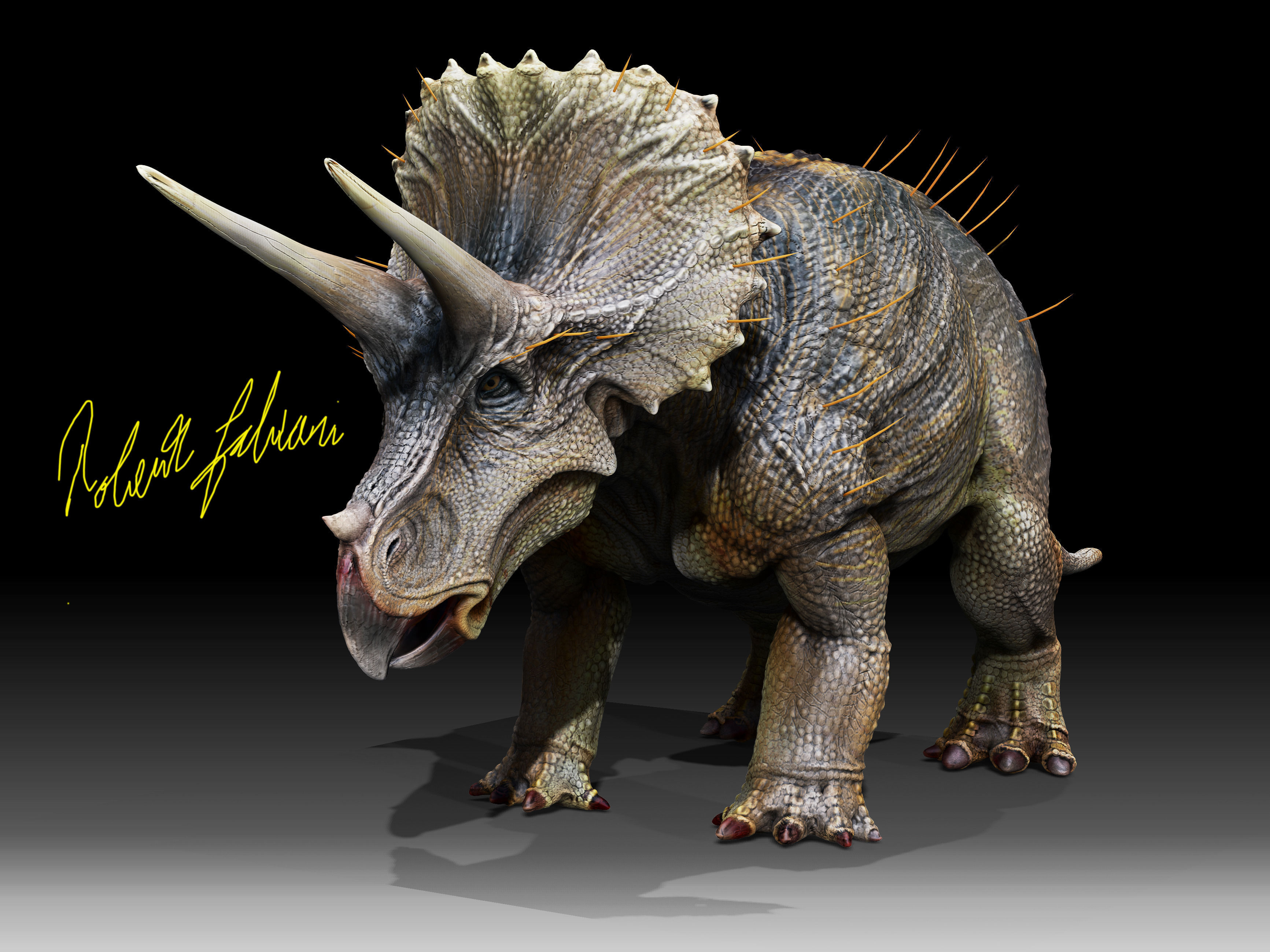 triceratops horridus 3d model obj tga 1