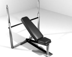 3D Exercise Machine Chest Bench