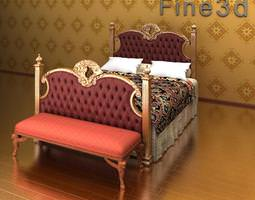 3d antique bed 09-0901