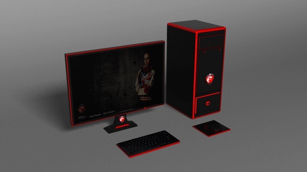 Msi Pc 3d Model Game Ready Max Cgtrader Com