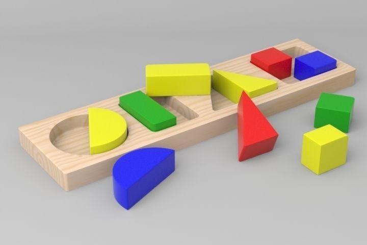 Geometric Shapes Toy free 3D Model OBJ FBX LWO LW LWS LXO ...