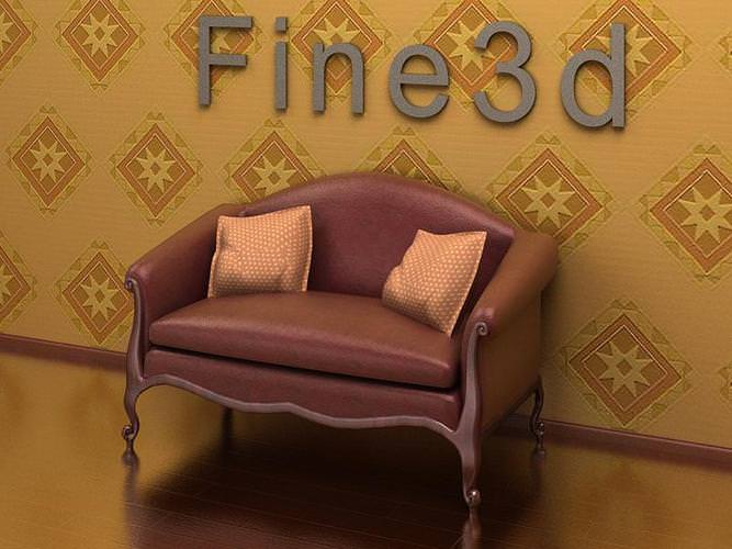 sofa loveseat antique-09-097-sofa 3d model max obj 3ds 1