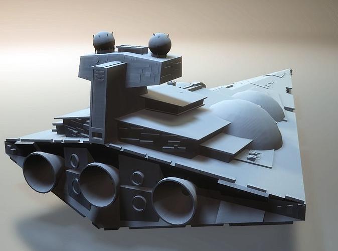 star wars dominator star destroyer 3d model stl 1