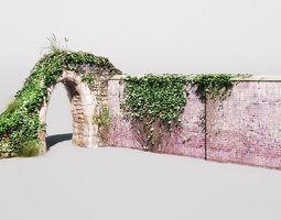garden wall 07 am148 3d
