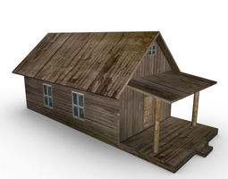 3d asset old farm house