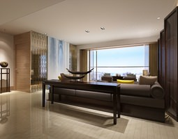 3D Modern Living Room Photoreal