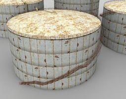 rusty silo 3d model