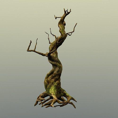 crooked mossy tree 3d model max obj mtl fbx lwo lw lws ma mb hrc xsi 1