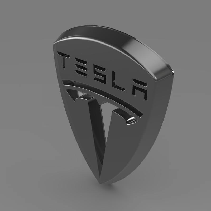Tesla Motors Images Tesla Model S Larson Sketches: Tesla Logo 3D Model .max .obj .3ds .fbx .c4d .lwo .lw .lws