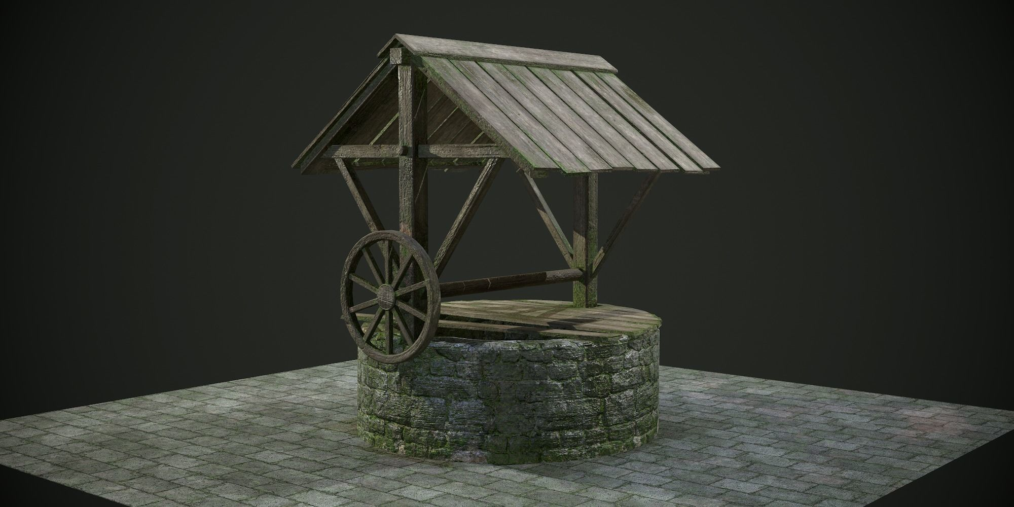 Ancient Stone Well for Games