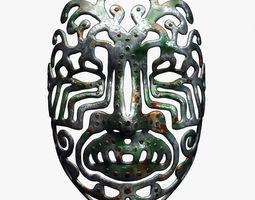 Tribal Metal Mask 3D model
