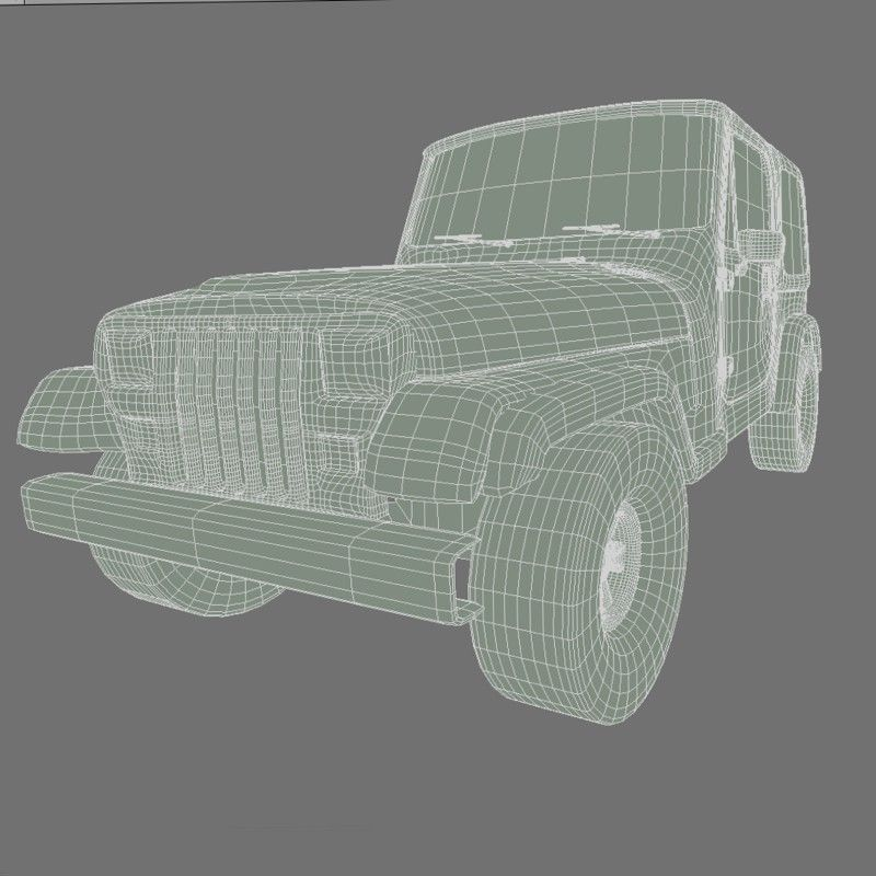 Yellow Toy Car in a Package 3D model MAX OBJ LWO LW LWS