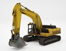excavator 3D asset