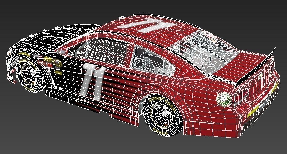 Jeff Gordon Chevrolet >> nascar car 3D Model Game ready .max .obj .fbx .dae - CGTrader.com