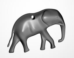 Elephant pendant 3D print model