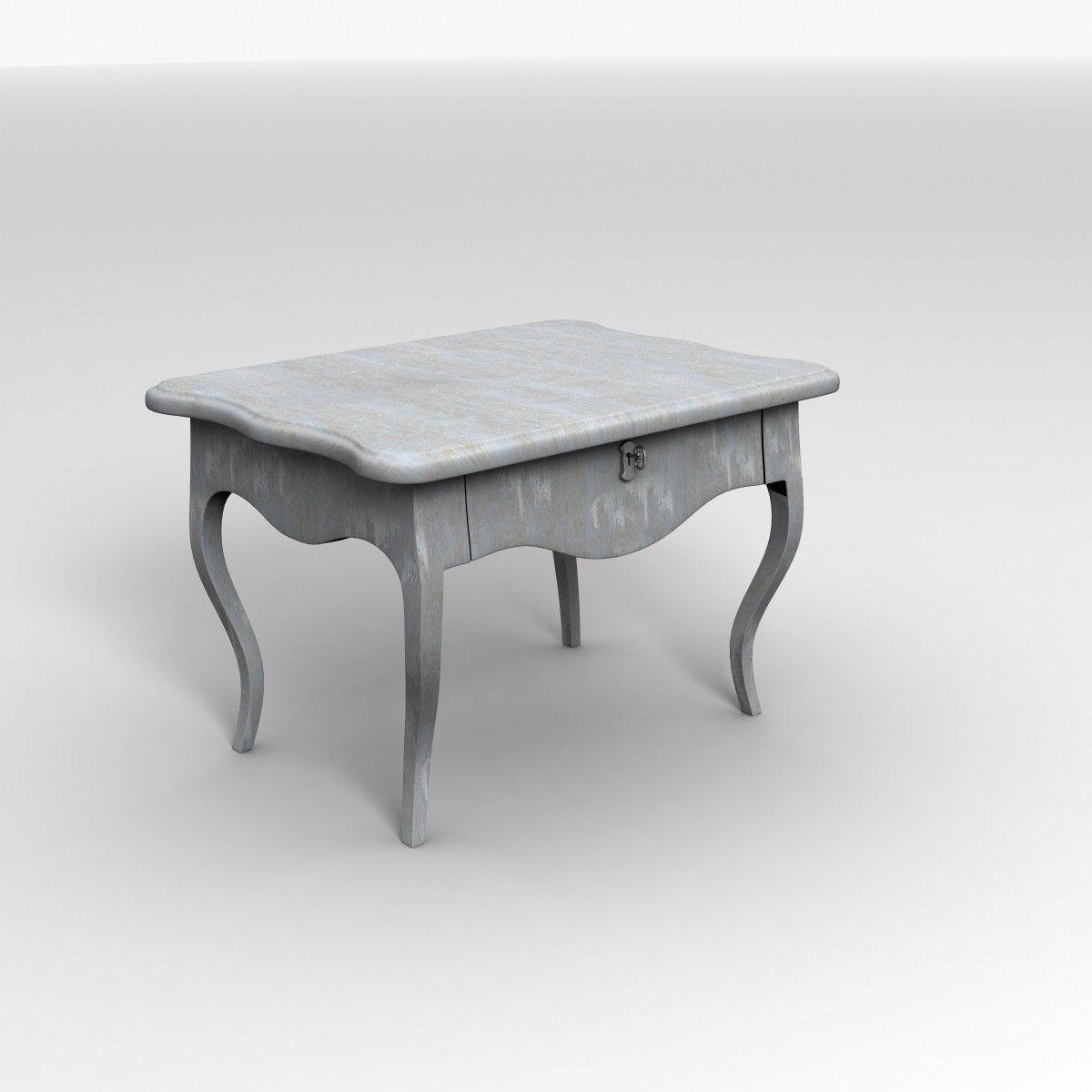 Old Antique Desk 3d Model Max Obj Lwo Lw Lws Ma Mb Blend Mtl 8