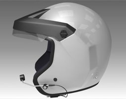 Rally Car Helmet 3D Model