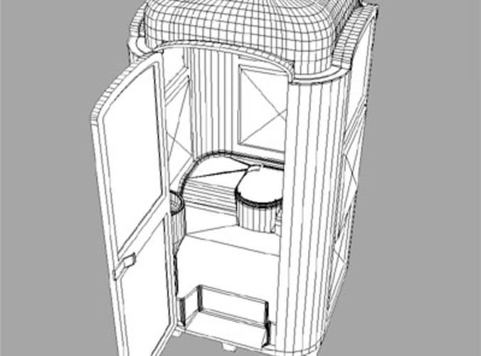 WC Portable 3D Model .max .3ds .fbx .dxf