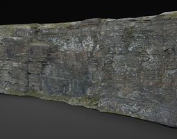 rock cliff 1 3D asset
