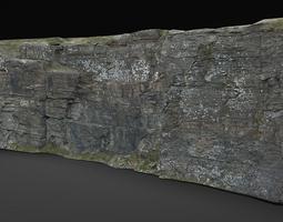 rock cliff 1 3D Model