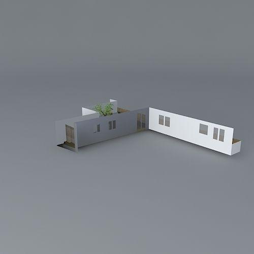 Low Maintenance Courtyard Garden Design Free 3D Model Max