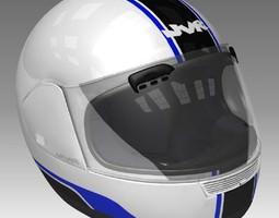 3D Motorcycle Helmet Textured