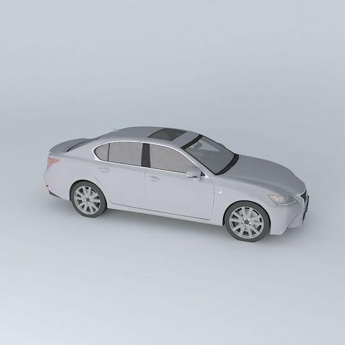 Lexus Gs F Sport 2015 3d Model: Lexus GS 350 F Sport L10 2013 Free 3D Model MAX OBJ 3DS