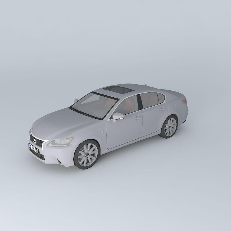 Lexus Gs F Sport 2015 3d Model: Lexus GS 350 F Sport L10 2013 Free 3D Model .max .obj .3ds