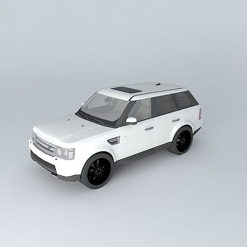 Review 2015 Range Rover Sport Hse: 3D Model Land Rover Range Rover Sport HSE 2010