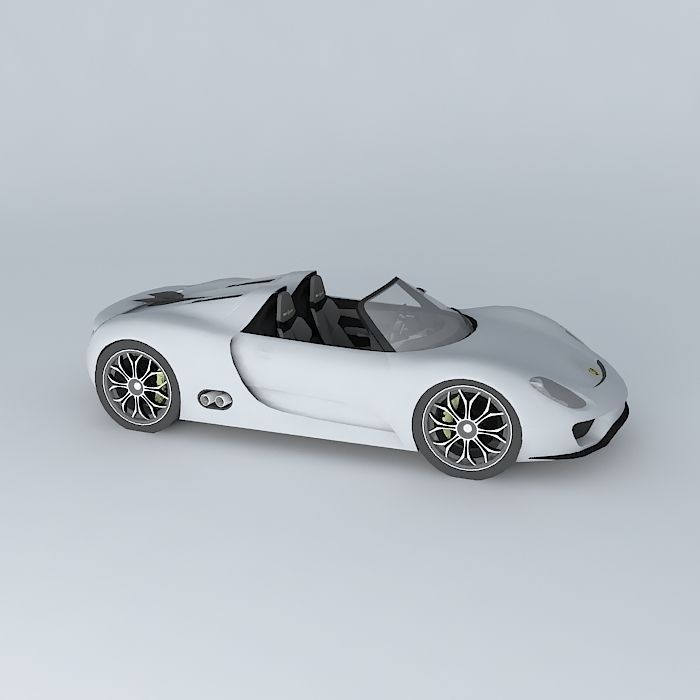 porsche 918 spyder concept 2010 free 3d model max obj 3ds fbx stl dae. Black Bedroom Furniture Sets. Home Design Ideas