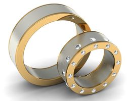 wedding rings couple 002 3d print model