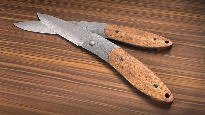 knife 3d model low-poly ma mb tga 1