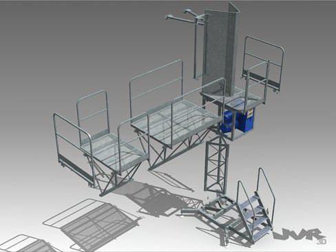 climbing work platform 3d model max 3ds fbx pdf 1