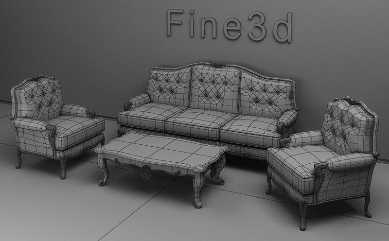 Living room furniture set 3d model max obj 3ds for New model living room furniture