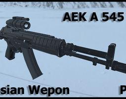 Russian modern weapon AEK A545 3D model