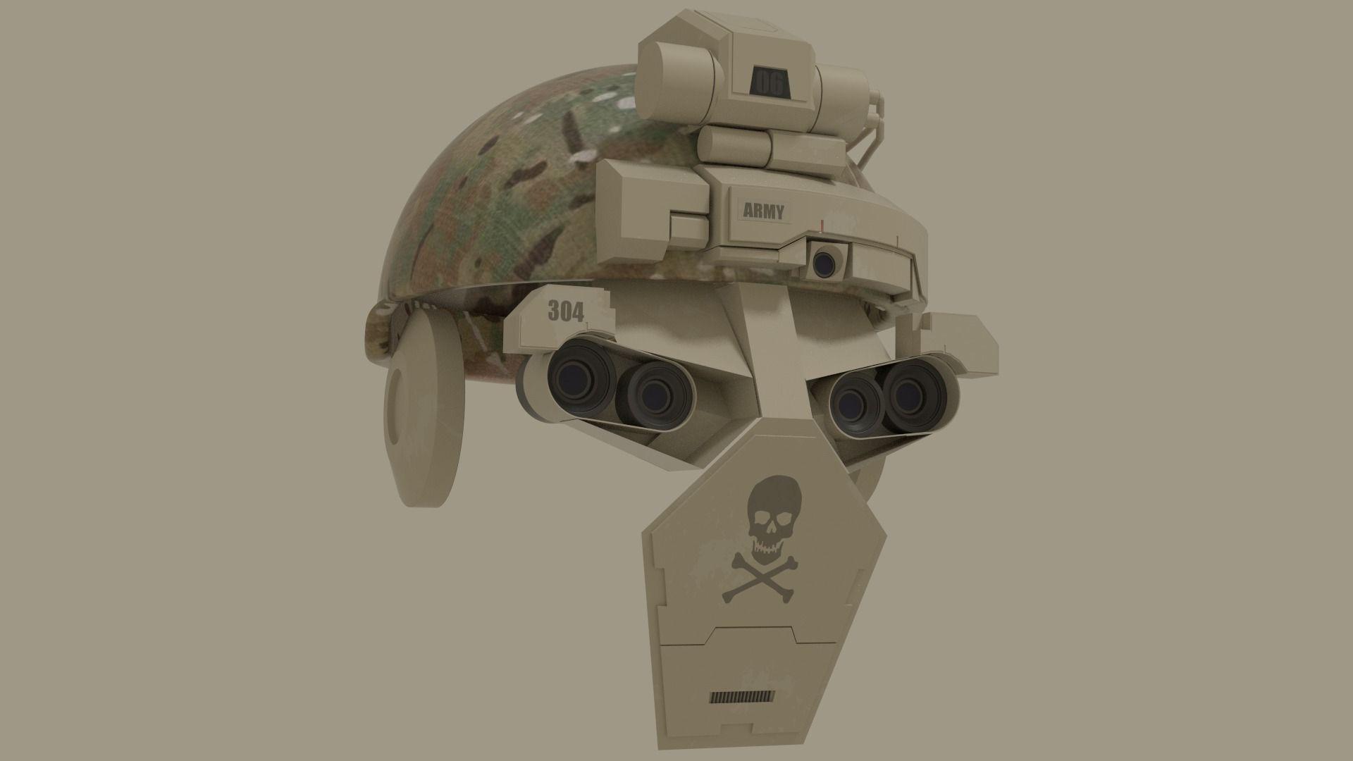 sci fi army helmet | 3D model